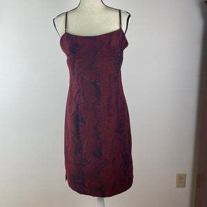Vintage Snake Print Slip Style Dress